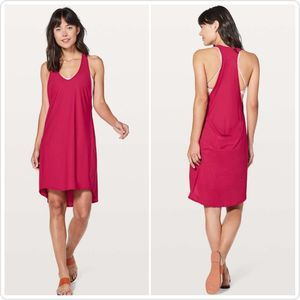 Lululemon Rejuvenate Dress Ruby Red